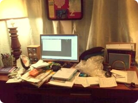 My Desk - What a MESS!